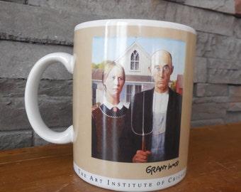 """Cup coffee vintage """"Grant Wood"""""""