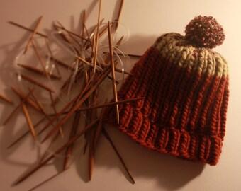 Hipster pompom hat
