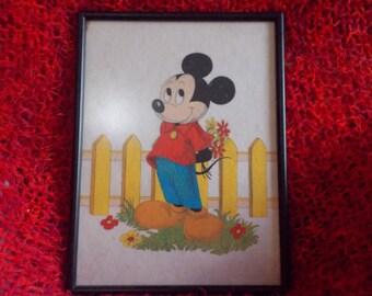 Mickey Mouse, framed artwork
