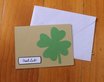 Four Leaf Clover - Good Luck card