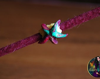 "Bead for dreads ""Starfish"". Beads for dreadlocks. Dreads accessories. dreads bead dread coil dreads jewelry"