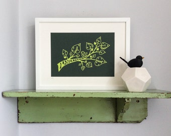 Framed personalised handmade papercut family tree
