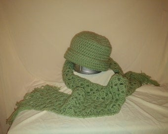 Double thick hat and scarf for those cold days!