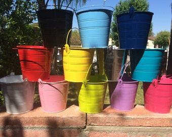 Big tin bucket set of 3