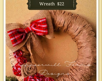 Paper Bag Rosette Wreath