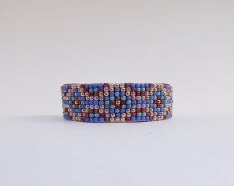 Beaded Leather Adjustable Cuff Bracelet - Lomasi