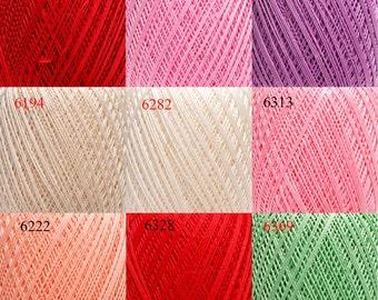 Crochet cotton yarn, yarn for knitting, lace yarn, yarn for crochet,  mercerized cotton, Violet yarn, yarn for sale, cotton yarn online