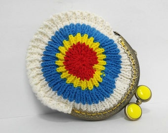 Handmade crocheted purse.