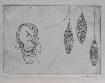 Cocoon- original etching