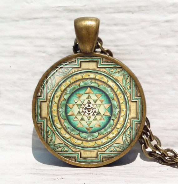 sri yantra pendant sacred geometry jewelry sri yantra
