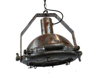 Nautical Pendant Light STEEL Vintage