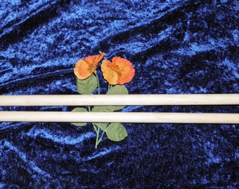 Large wooden knitting needles