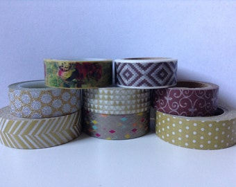 "WS-008 | 24"" Gold and Brown Washi Sample 