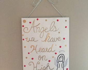 Angels We Have Heard on High Canvas Art