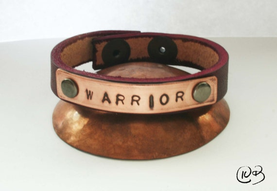 Warrior leather and copper bracelet. Let me see your warrior face