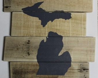 Michigan Wood Sign Wall Art
