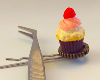 kawaii, hair slide, cake hair slide, cake hair pin, bobby pin, cake Bobby pin, cake hair pin, cupcake, hair accessories, kids party bag