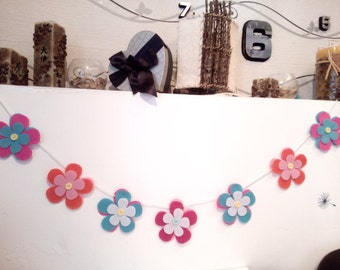 Flowers Banner - Decorative Banner - Happy day Banner - happy Birthday Garland -  happy BirthdayBanner
