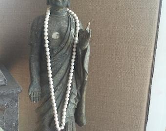 Beaded Spiritual Stone Cross Necklace