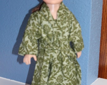 Two piece green robe and nightgown