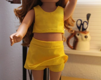 Skort and top in yellow