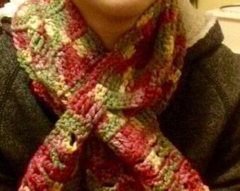 Crocheted Multicolored Scarf