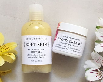 Ultra Skin Softening Body Care Set for Moisturizing and Hydrating All Skin Types, Especially Dry Skin