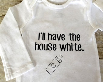 I'll Have The House White Bodysuit