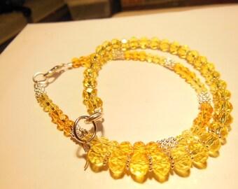 Set of 2 bracelets. Yellow and yellow/orange