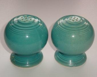 Vintage Fiesta Pottery Turquoise (Robin's Egg Blue) Salt and Pepper Set