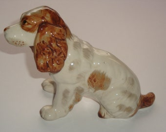 Vintage English Springer Spaniel Porcelain Figurine ~ Made in Japan