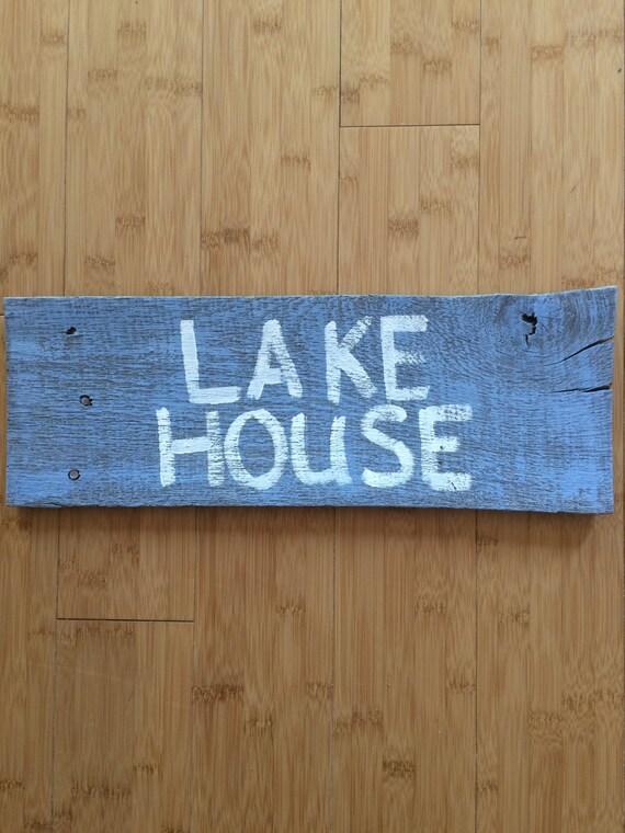 Lake Home Wall Decor : Lake house distressed sign pallet wall decor handmade rustic