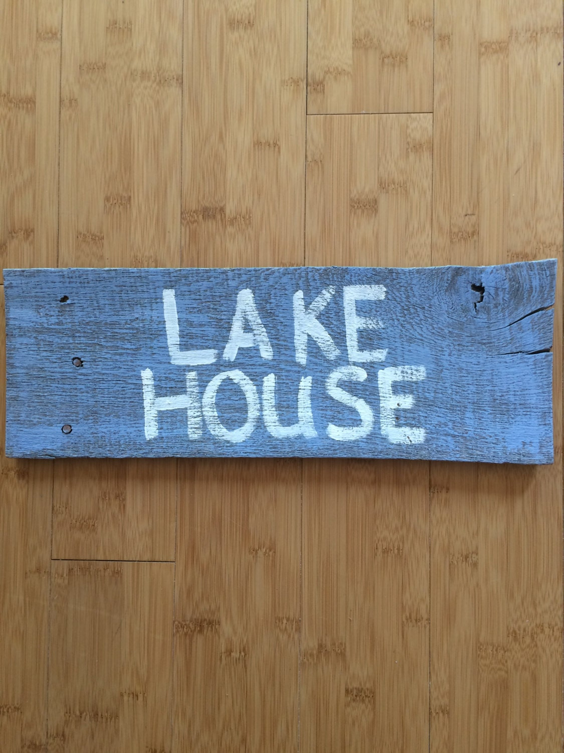 Wall Decor For Lake House : Lake house distressed sign pallet wall decor by