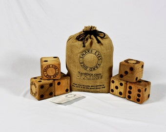 Snake Eyes Yard Dice - The Original Over-Sized Wooden Yard Dice