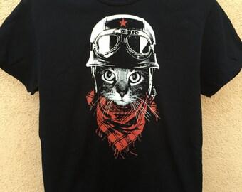 Adventure Motorcycle Biker Cat T-Shirt