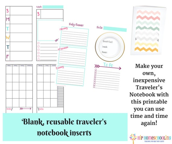 32 Page Traveler's Notebook Inserts - Daily Insert - Weekly Insert ...