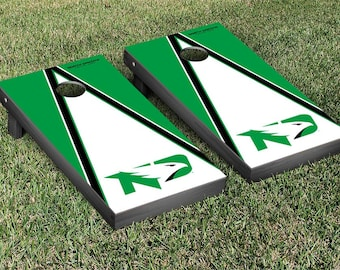 University of North Dakota Fighting Hawks Cornhole Game Set Triangle Designs