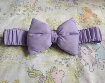 Lilac elasticated bow waist belt fairy kei Lolita decora