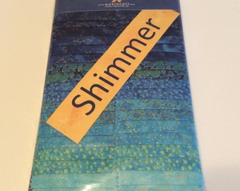 Northcott 2.5 inch strip set, Shimmer  Fabric Emerald