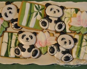 Set Panda biscuits, 9 cookies