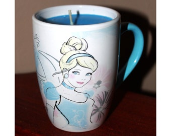 Disney Cinderella princess mug candle
