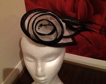 Chanix rose fascinator
