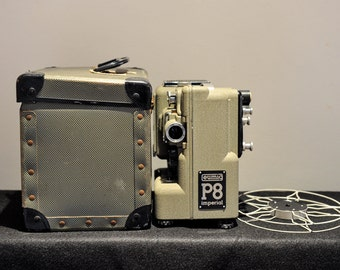 Eumig Imperial P8 Movie Projector for 8mm film In Original Case - 1960's
