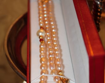 Byzantina Pearl and Ruby Necklace
