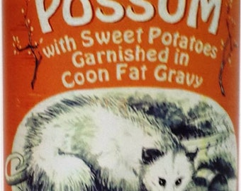 Creamed Possum  Garnished with Sweet 'Taters Coon  Fat Gravy!
