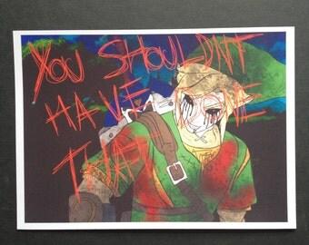 Creepypasta Fanart BEN Drowned Art Print Horror Gore Majora's Mask