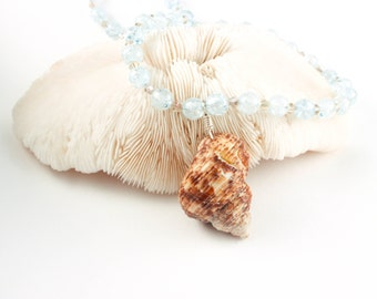 Spiral Seashell Necklace - Hawaiian Shell Necklace - Shell Necklace