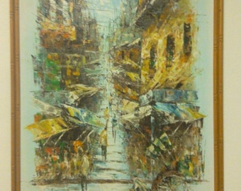 Vintage / Retro Art - Asian street scene.