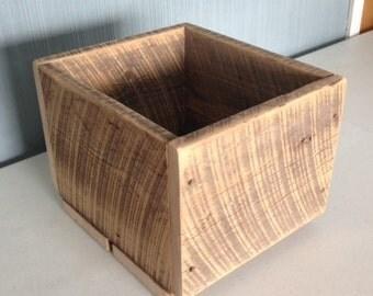 Barnwood Box - Barnwood Crate - Rustic Wood Box - Handmade Wood Box