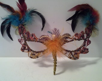 Unique feathered mask